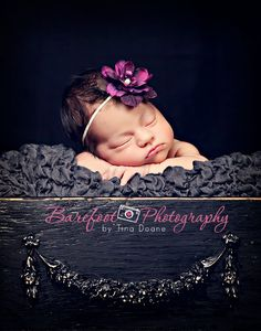 CREATIVE PROPS with contrasting or complementing textures in the same color can add DRAMA and INTEREST to your photos and give you an edge over your competition.        baby headband, photography props for newborns, newborn headbands, purple flower, infant, toddler, teen, adult great photo prop.   http://www.etsy.com/listing/74647024/baby-headband-photography-props-for