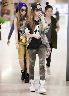 Official Korean Fashion Blog: T-ara Hyomin Airport Fashion
