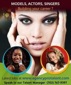 Are you #Model, #Actor, #Singer,Looking for opportunities? Signup for Free  with aganecyprotalent.com and Build your #Career today!!