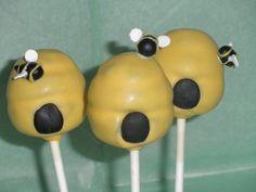 Bee hive cake pops