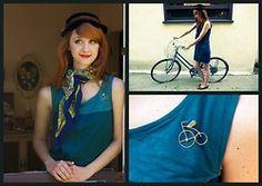 Jane Bennet - Forever 21 Dress, Vintage Hat, Bike Pin - Afternoon Bike Ride