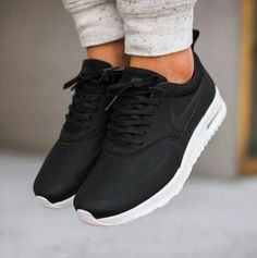 more photos 669cd a88b0 Nike Air Max Thea Black Premium Leather Sneakers •The Nike Air Max Thea  Women s Shoe is equipped with premium lightweight cushion…