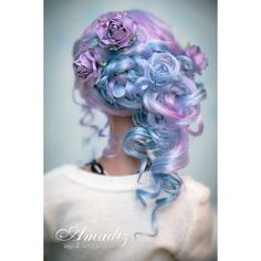 Purple rose fairy Back by amadiz ❤ liked on Polyvore featuring hair