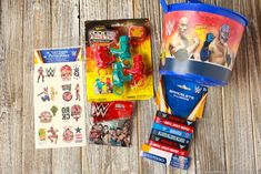 WWE Party Favors These WWE birthday party ideas are perfect for the little wrestling fans in your home. Fun ideas for games, loot bags, food and more! Wrestling Birthday Parties, Wrestling Party, Wwe Birthday, Superman Birthday Party, Birthday Party Desserts, Sports Birthday, Happy Birthday Parties, Wwe Party Supplies, Laser Tag Party