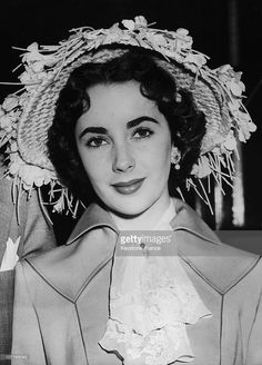 Young screen star Liz Taylor left the Savoy Hotel for the second day of the Ascot Races on June 14, 1950 in London, England.