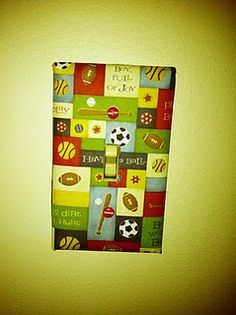 Mod Podge paper onto a light switch plate = custom light switch plate on the cheap!