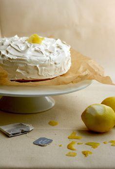 2-Layer Lemon Cake with Earl Grey Tea Frosting