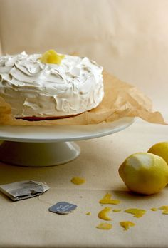 2-Layer Lemon Cake with Earl Grey Tea Frosting
