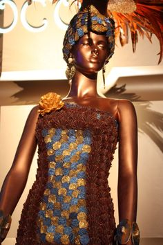 Incredible work by Pastry Chef Vincent Pilon. #chocolate #dress