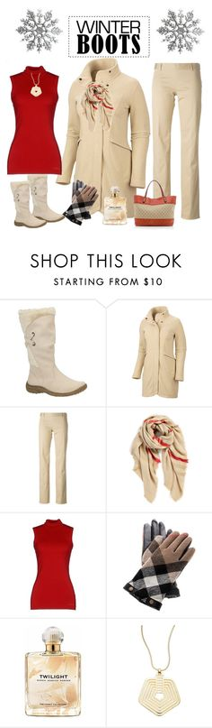 """""""Winter boots"""" by maryfromnewengland ❤ liked on Polyvore featuring Mountain Hardwear, Dsquared2, BP., G.SEL, Burberry, Sarah Jessica Parker, Trina Turk LA and Gucci"""
