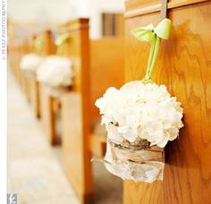 The flower arrangements for church wedding planning process you'll want to be well aware of how rapidly costs accumulate. Wedding Ceremony Ideas, Wedding Pews, Wedding Altars, Our Wedding, Wedding Flowers, Pew Flowers, Wedding Stuff, Sage Wedding, Church Flowers