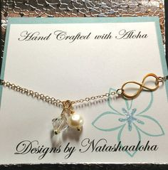 Infinity Necklace Gold Infinity Sister Friend by natashaaloha, $42.00