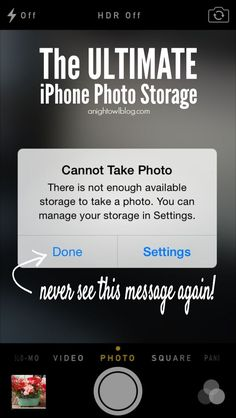 Never run out of iPhone photo space again