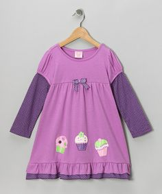 Take a look at this Purple Cupcake Layered Dress - Toddler & Girls by S.W.A.K. on #zulily today!