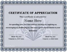 Certificate of appreciation microsoft word projects to try sample volunteer certificate template 30 free certificate of appreciation templates and letters yadclub Image collections