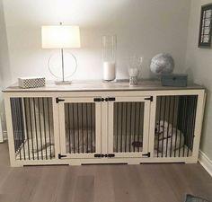 Integrated dog kennel.