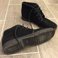 Leather Lace up Booties Soft suede leather. Wore maybe twice? True to size but could fit a narrow size 8 as well. Super comfortable and hard to find style. Love these just too smug on me since having my daughter. keds Shoes Ankle Boots & Booties