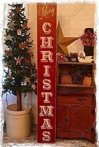 HUGE+Merry+Christmas+Vertical+Stencil
