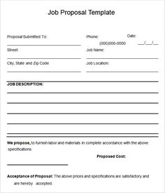 Job Proposal Letter Bree Robinson Bree4339 On Pinterest