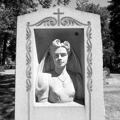 Gravestone, Woodmere Cemetery--Detroit MI. A gravestone of a woman and her husband at Woodmere Cemetery.