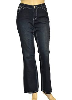 Alfa Global Women's Regular To Plus Size Boot Cut Stretch Denim Washed Pants - best woman's fashion products designed to provide Plus Size Boots, Plus Size Jeans, Plus Size Fashion Tips, Plus Size Outfits, Petite Models, Catwalk Models, Cute Underwear, Perfect Model, Short Models