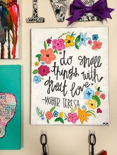 Spiritual Quote with Flower Border Canvas by FindingSmiles on Etsy by heidi
