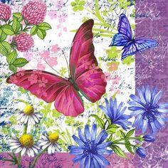 Papillons et fleurs superbes