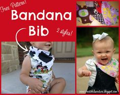 Make Your Own Bandana Bib for Boys and Girls -  Free Pattern!