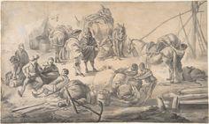 Johannes Lingelbach | Figures at a Quayside | The Metropolitan Museum of Art