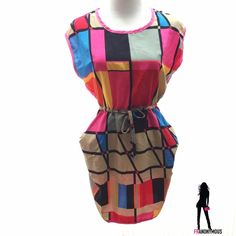 """HPFun Colorful Colorblock Mini/Tunic M, L Last two-Host PickNWT-Fun color-block mini dress or tunic to wear with leggings. Solid pink back. Elastic/drawstring waist with 2 side pockets. Runs small because no real stretch. Large measures around the underarm about 38"""" , unstretched waist is 27"""" but stretches 3-4"""", widest part of hips is about 36"""". Available in L and M. Dresses"""