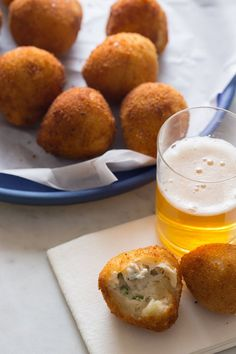 Coxinha - a savory dough filled with a chicken and cream cheese (or crema) filling, and lightly fried.