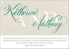 REVEL: Scripted Wedding Invitations