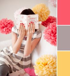 color palette(( finally will have a craft room)) Colour Schemes, Color Patterns, Color Combos, Three Color Combinations, Colour Palettes, Color Stories, Color Pallets, My New Room, Girl Room
