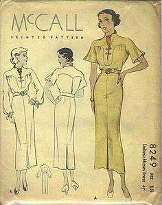 McCall 8249 | ca. 1935 Ladies' & Misses' Dress