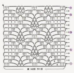 Crocheted motif no. Crochet Stitches Chart, Crochet Motifs, Crochet Diagram, Crochet Squares, Filet Crochet, Crochet Doilies, Crochet Patterns, Crochet Wool, Thread Crochet