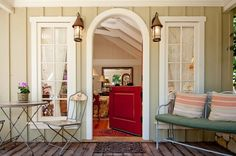 love the dutch door...maybe not in red though
