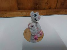 """Needle felted animal mouse mice Baby shower unique gift Mum and baby mouse I called this """"parents joy"""" as its face is filled with the joy of being a new parent this is needle felted by myself ooak mother and baby mice dolls house mice x Cute Mouse, Needle Felting, Daddy, My Etsy Shop, Teddy Bear, Joy, Mice, Check, Animals"""