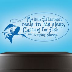 "Fishing Wall Decal - Wall Decals Nursery - My Little Fisherman - Vinyl Wall Decal - Hunting Decal 18"" x 38"" by VinylThingzWalls on Etsy https://www.etsy.com/listing/189789930/fishing-wall-decal-wall-decals-nursery"