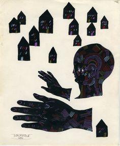Black Houses (original drawing). Justin Brown Durand