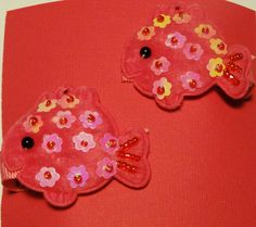 Set of Adorable Fishy Hair Clips by JulietsJems on Etsy, $4.00
