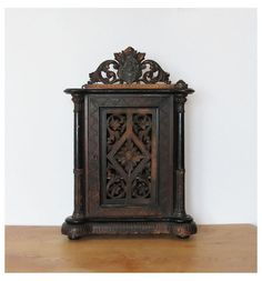 Vintage Wall Cupboard Small Historicism Cupboard by mlovesvintage