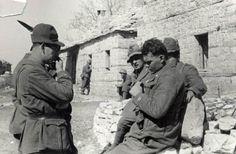 Guerra d'Albania - Fronte greco - Comando della Divisione Julia sul monte Scendèli Bescit, Albania, 01/03/1941 - 31/03/1941