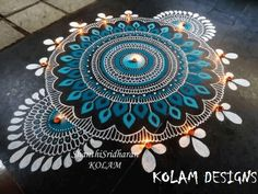 Discover the most beautiful collection of rangoli designs for Diwali. Explore unique and colorful rangoli design ideas and images for the upcoming festival. Indian Rangoli Designs, Simple Rangoli Designs Images, Rangoli Designs Latest, Rangoli Designs Flower, Rangoli Border Designs, Rangoli Patterns, Rangoli Ideas, Rangoli Designs With Dots, Beautiful Rangoli Designs
