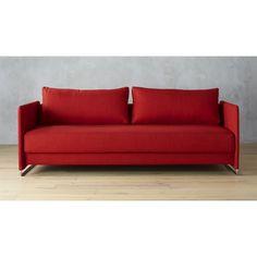 tandom red sleeper sofa | CB2