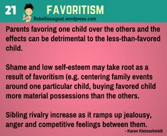 Psychology 21 - Favorisim