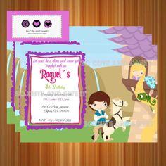 Rapunzel Invitation Tangled Birthday Invitation by socuteandsweet, $12.00