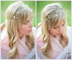 """Willow"" Gold Beaded Freshwater Bridal Hair Vine by Hair Comes the Bride ~ Photos courtesy of www.AtiyehRPhotography.com"