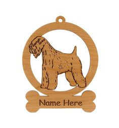 Soft Coat Wheaten Dog Ornament 084002 by gclasergraphics on Etsy, $9.50