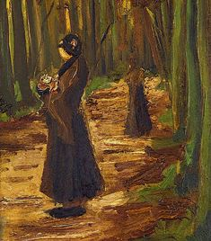 VINCENT VAN GOGH (1853-1890) Two women in a wood