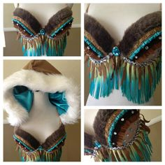 Turquoise and Brown Native Inspired by Electric Laundry